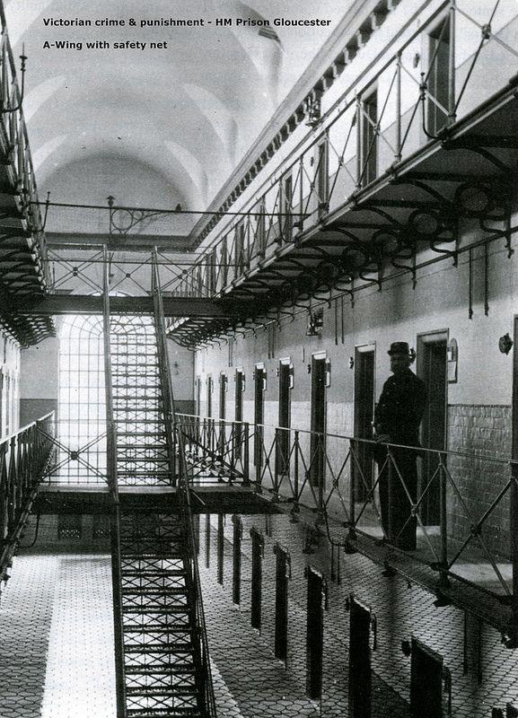 Victorian crime & punishment - A-Wing HM Prison Gloucester, England