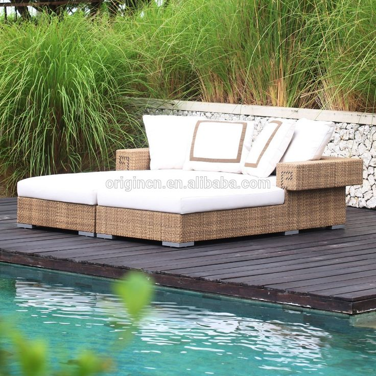Stylish double seater innovative pool daybed furniture rattan outdoor lounger, View outdoor lounger, OEM, Origin Product Details from Jinhua Origin Industrial & Trading Co., Ltd. on Alibaba.com