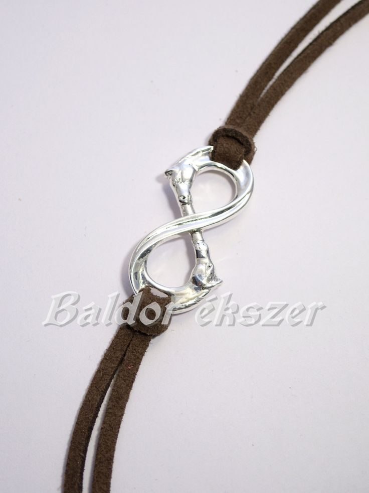Silver Infinity Bracelet with horse by BaldorJewelry on Etsy