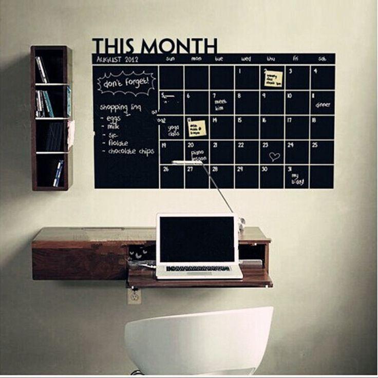 60*100 cm Blackboard Chalkboard Chalk Black Board Stickers Removedable Monthly Schedule Planner Sticker For Office Room
