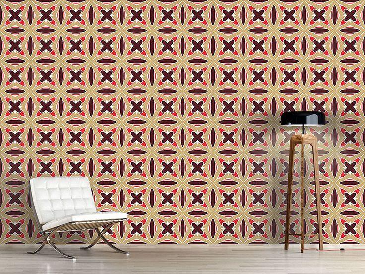 Design #Tapete Retro Kreuz Verbindung