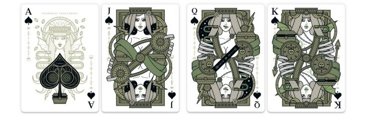 Eva is a new series of playing cards inspired by the story of the Four First Women. It was printed by USPCC and features an experimental letterpress tuck box, numbered custom seal (1-1999). The car…