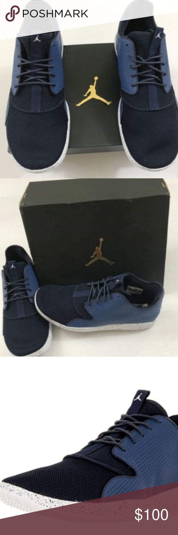 Air Jordan Eclipse 724010-401 sz 9 Nike Air Jordan Eclipse 724010-401 New Mens Low Top BBall Shoes Sneakers   size 9  100% Authentic   Brand new with box  Please see pictures for full details  ships fast and safe! Jordan Shoes Sneakers