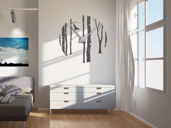 19 besten xxl uhren gro e wanduhren als wandtattoos. Black Bedroom Furniture Sets. Home Design Ideas