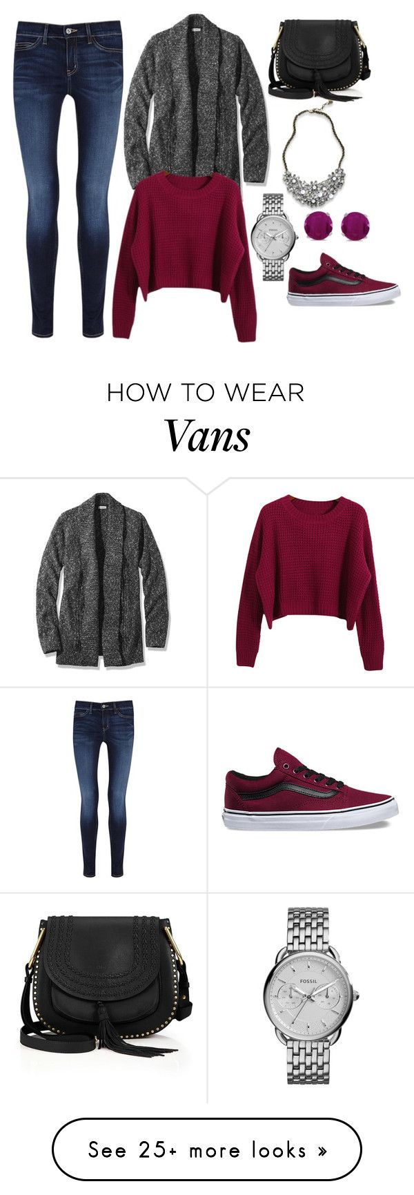"""Untitled #10824"" by beatrizibelo on Polyvore featuring M.i.h Jeans, Abercrombie & Fitch, L.L.Bean, Chloé, FOSSIL, Chicnova Fashion, BillyTheTree and Vans"