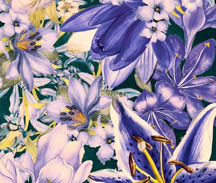 flowers blue  art #flowers #flora