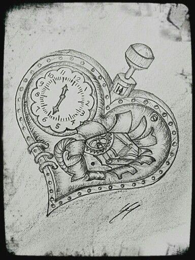 Broken steampunk heart.  #drawing #steampunk #brokenheart