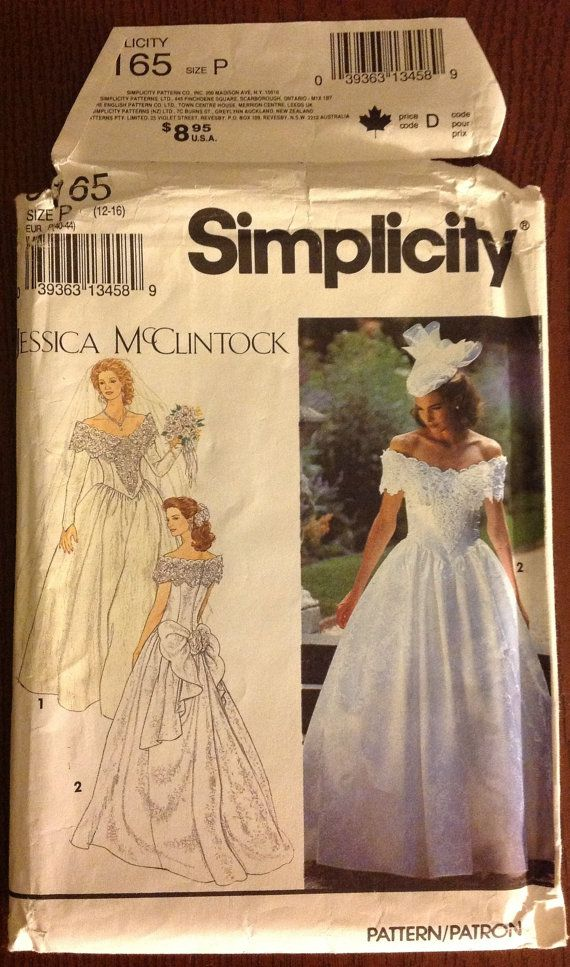 Simplicity 8165  Miss/Misses PETITE BRIDES by NanasClosetofThings