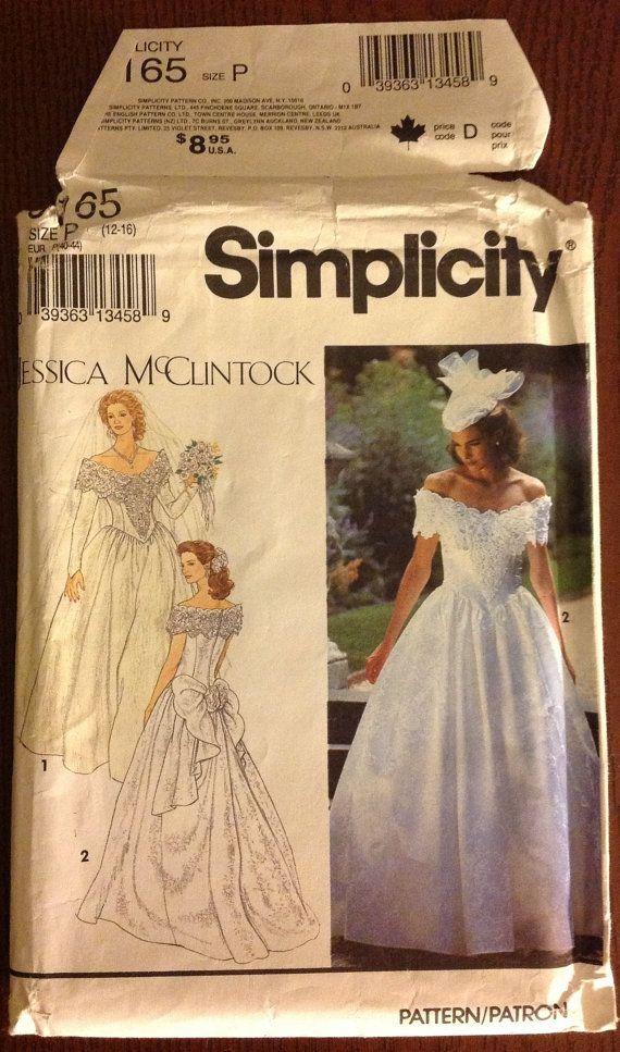 Simplicity 8165  Miss/Misses PETITE BRIDES by NanasClosetofThings