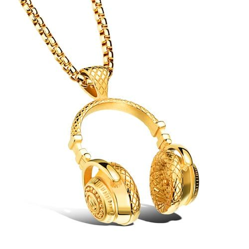 14K Gold / Silver Plated Headphone Pendant for another level of swag. High quality stainless steel is used for the product in order to have the feel of solid gold and silver.   Available payment methods: