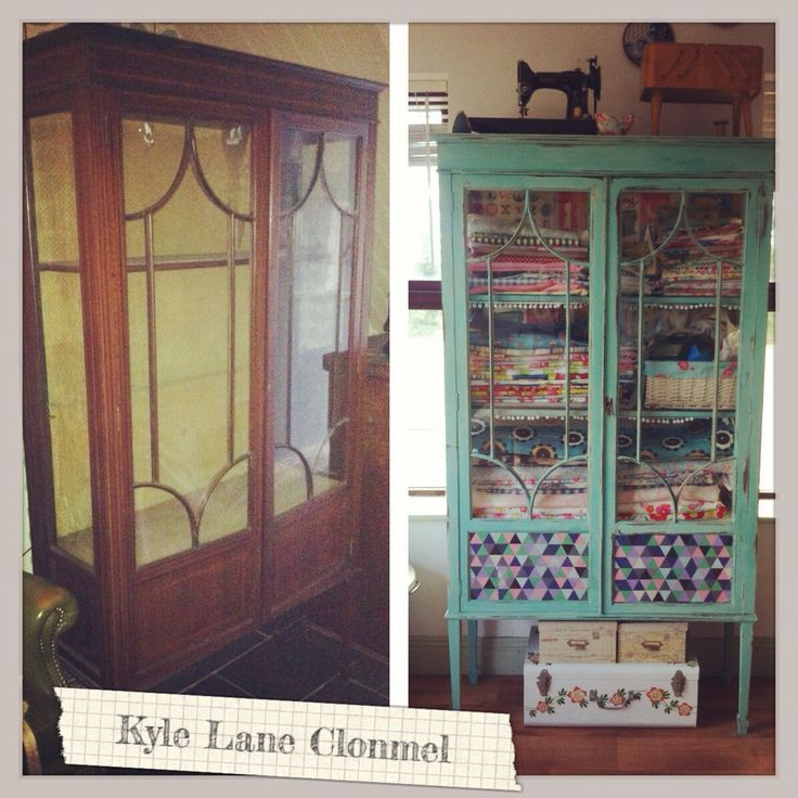 Before and After , My fabric display cabinet in my craft room , Kyle Lane Clonmel