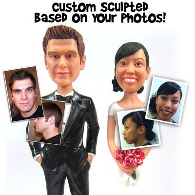 Set of Funny Wedding Cake Toppers