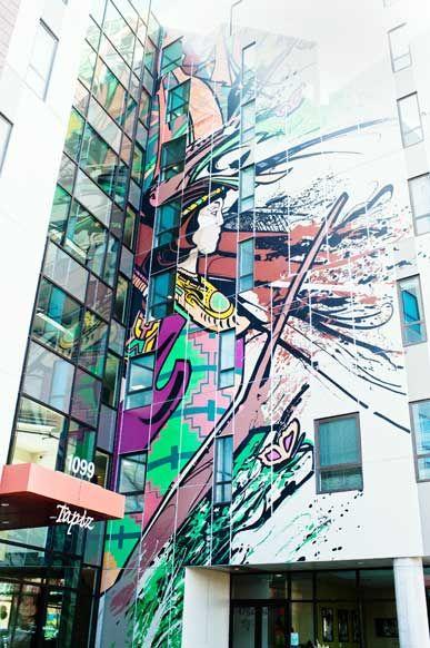 Spray Paint Mural In Longmont Co