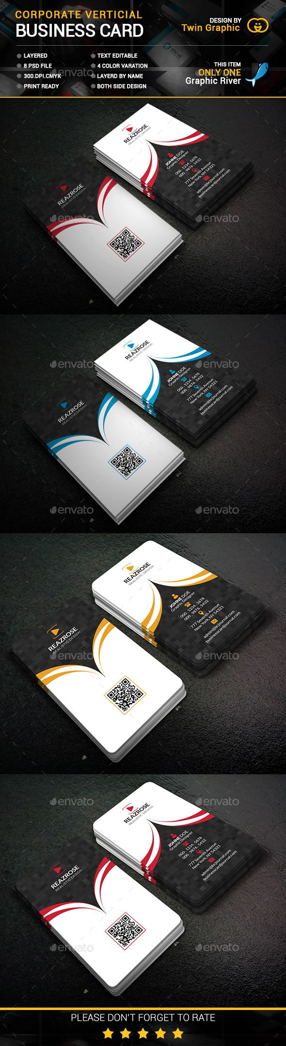 Best 25 vertical business cards ideas on pinterest business corporate vertical business card design magicingreecefo Gallery