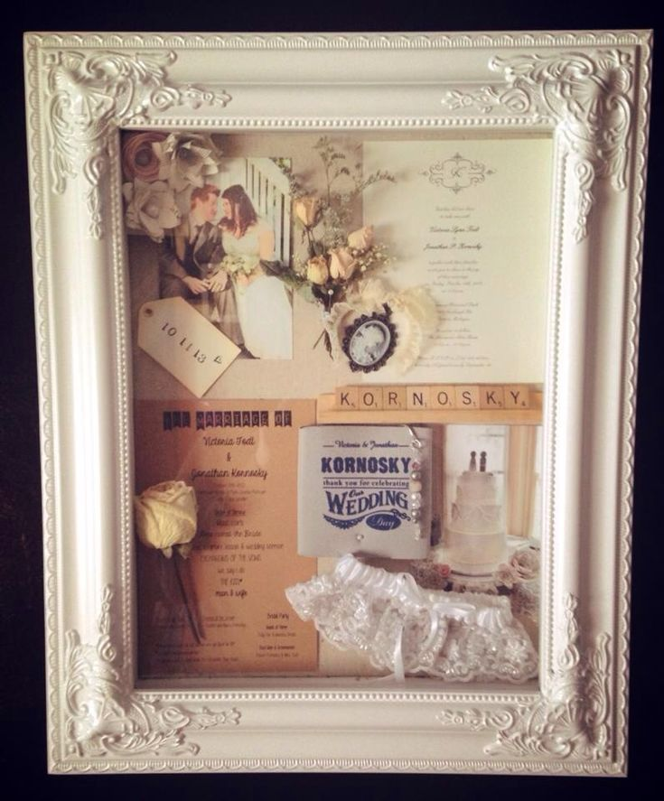 Almost two years already...but I still want to get a shadow box made of wedding things to display!