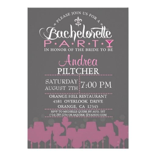 modern bachelorette party invite - Cheap Bachelorette Party Invitations