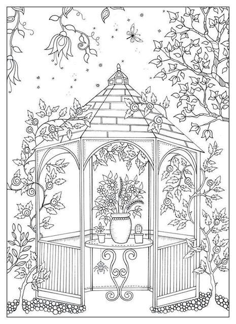 free colouring page via artist on facebook secret garden