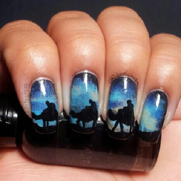 Christmas Toe Nail Art Tutorial: Three Wise Men #nail #nails #nailart