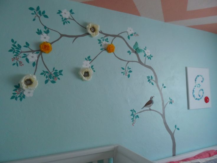 3D Tree Decal in the Nursery: Artificial Flowers, 3D Tree