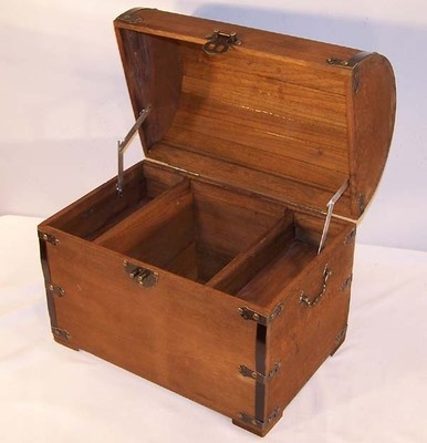 lg wooden treasure chest pirates storage box pirate