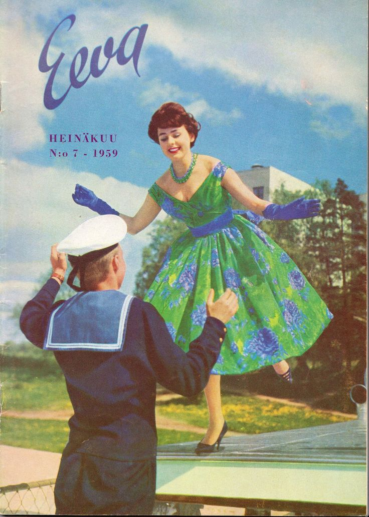Finnish women's magazine Eeva's cover July / 1959