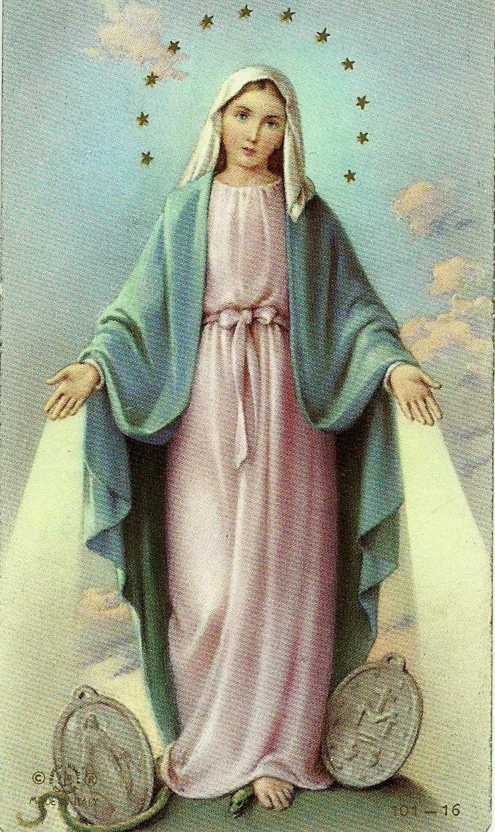 Virgen de la Medalla Milagrosa. La Virgen María se le apareció a santa Catalina…