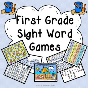 First grade sight word games and activities: learn the fun way!