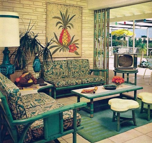 Patio Sun Room 1967 Maybe Rattan