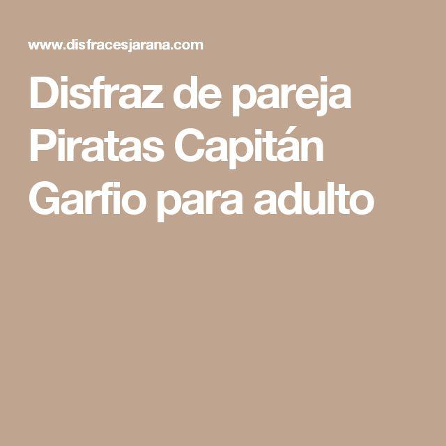 Disfraz de pareja Piratas Capitán Garfio para adulto