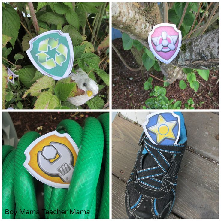 Boy Mama Teacher Mama  FREE Paw Patrol Badge Hunt 4