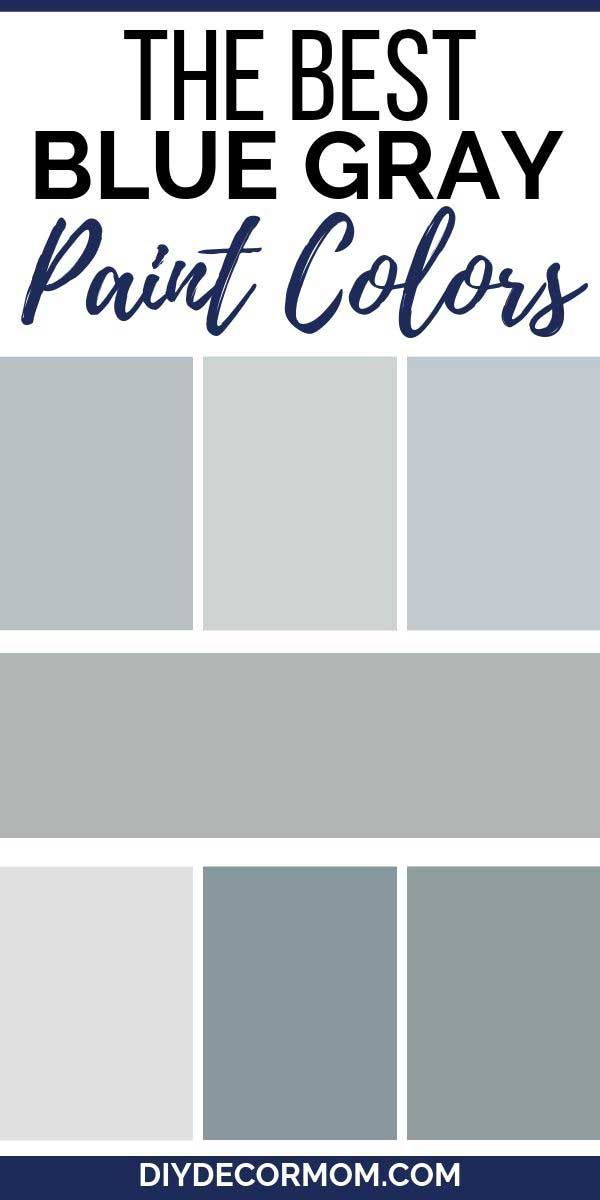 Most Popular Blue Gray Paint Colors- 25+ Benjamin Moore ...