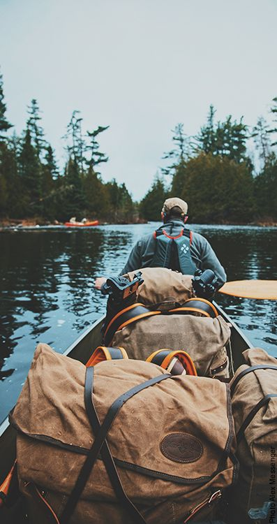 Canoeing into the Boundary Waters Canoe Area Wilderness in May 2016 on a Wilderness Year Resupply Trip. Frost River canoe packs made in Minnesota to be fit for the field for years