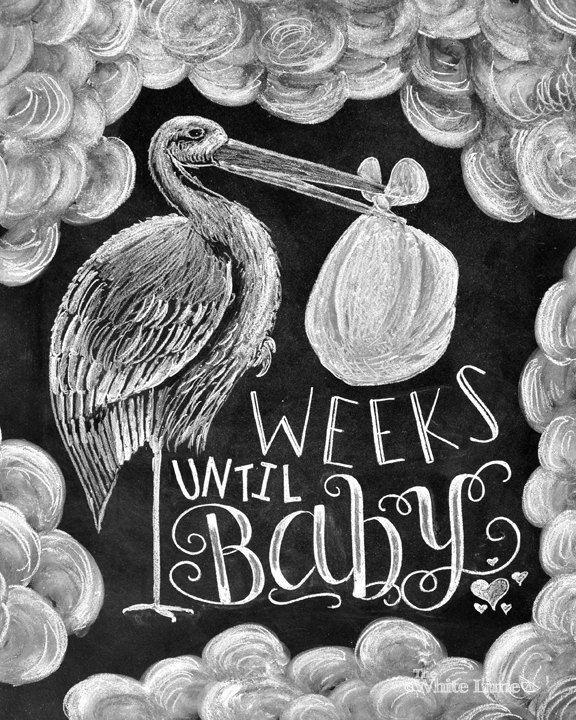 Baby Countdown Baby Countdown Chalkboard Pregnancy