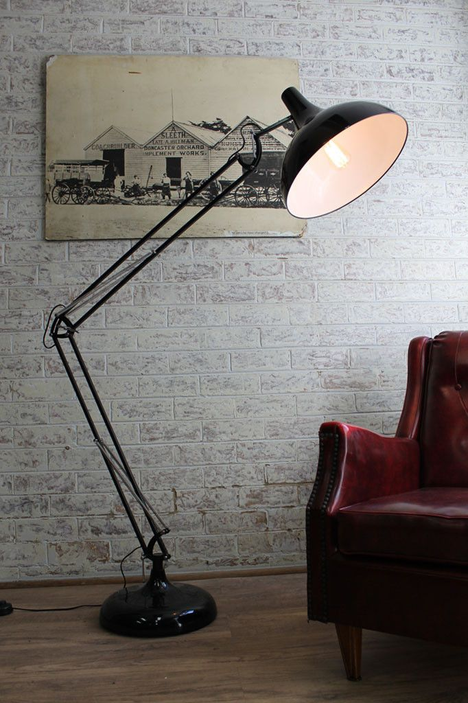 Large Metal Floor Lamp with adjustable arm