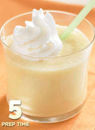 Orange Creamsicle Drink... 3 simple ingredients to cool you off on a hot day. Also a fun snack for your kids in the summer!