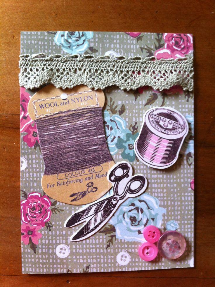Vintage sewing card