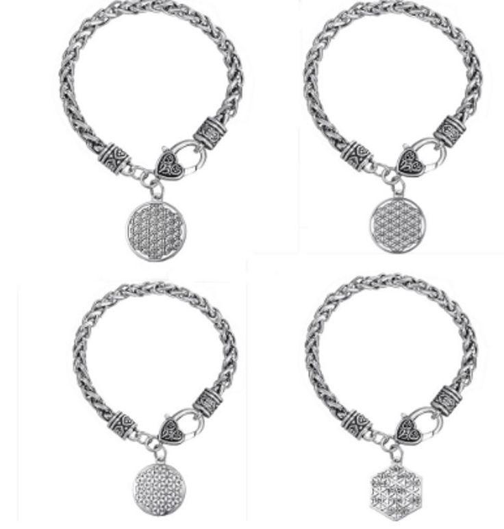Flower Of Life Sacred Geometry Egyptian Charm Secret Bracelet Creator Mandala