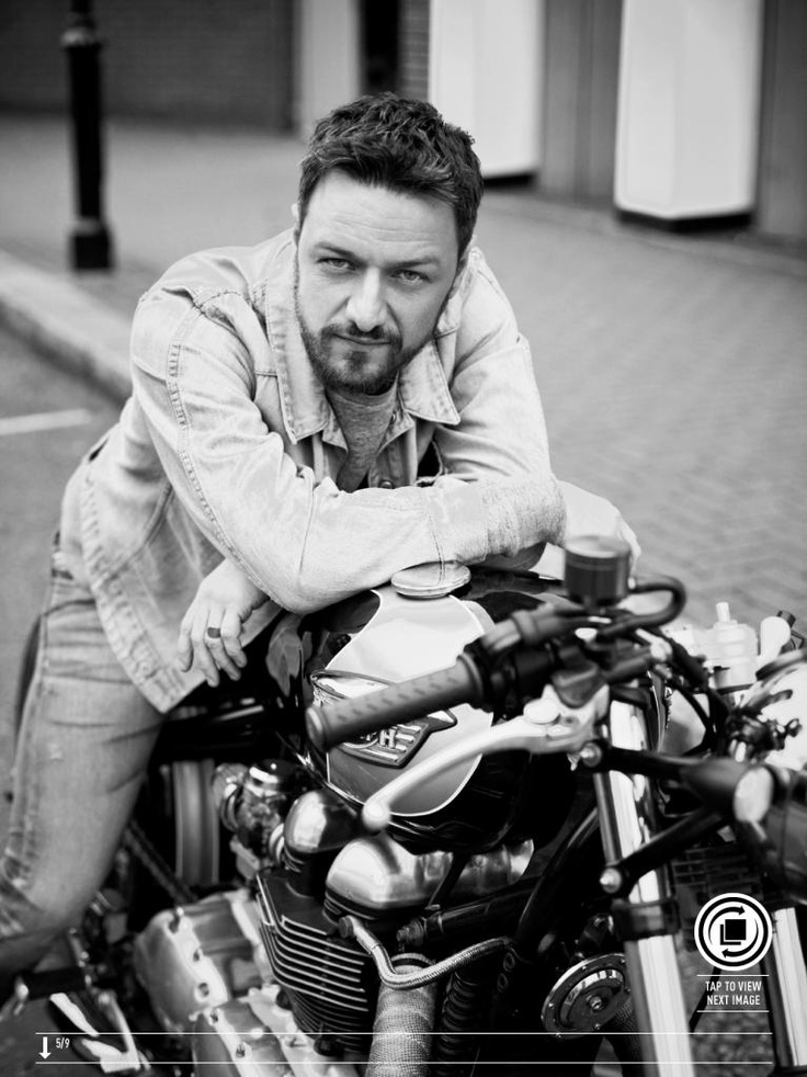 James McAvoy and motorcycle- two of the hottest things ever created!