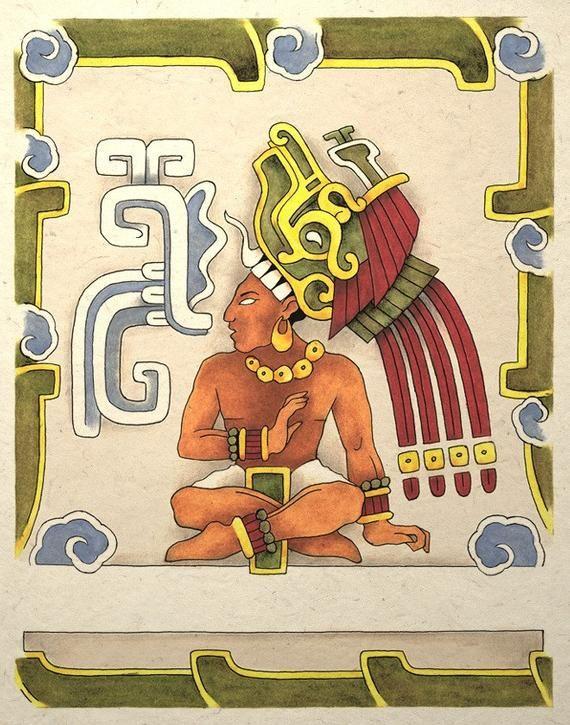 Ancient Mayan Aztec Warrior Priest Art Print by TigerHouseArt Mayan Symbols, Viking Symbols, Egyptian Symbols, Viking Runes, Ancient Symbols, Native Symbols, Warrior Priest, Aztecas Art, Chicano Art