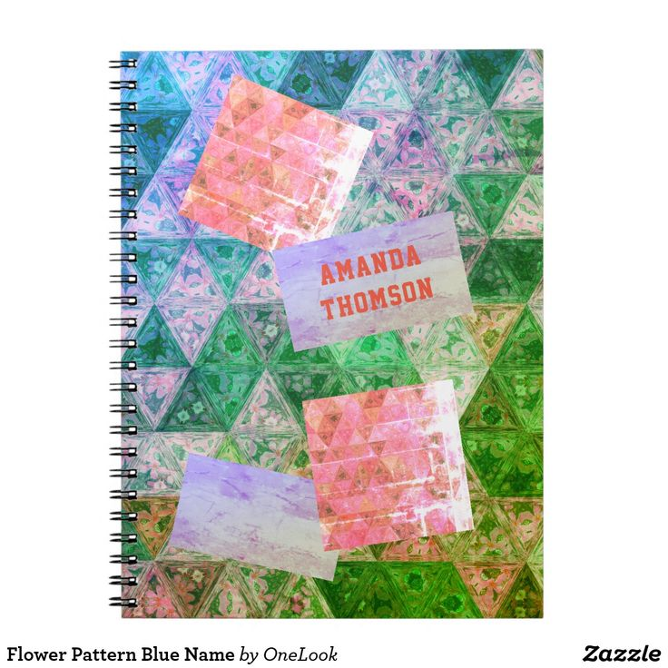 Flower Pattern Blue Name