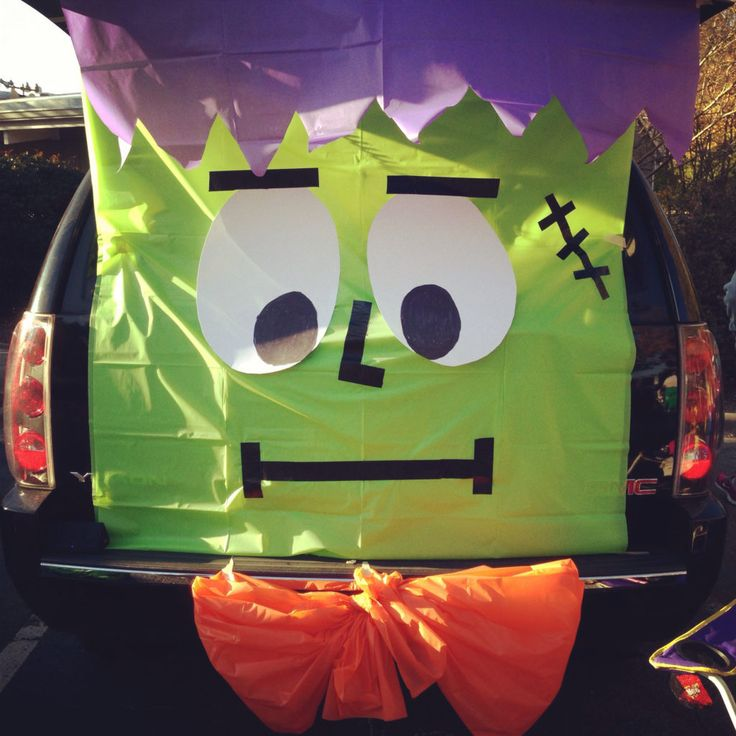 24 best Trunk or treat images on Pinterest Halloween prop - how to decorate your car for halloween