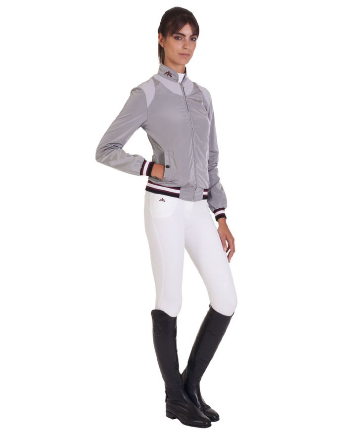 Ladies bomber mod. LUCY. To ensure the comfort of movements. Made in Italy. Makebe Collection for the horse and for the rider