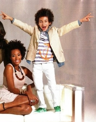 Solange and her son natural coils