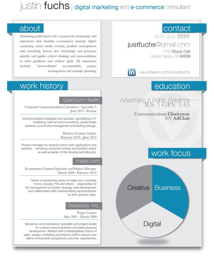 Digital Resume visual resumes examples Sample Resume For Digital Marketing Career Brandneuxcom