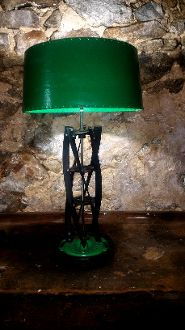 Repurposed Rotary Lawn Mower Blade Table Lamp                LML