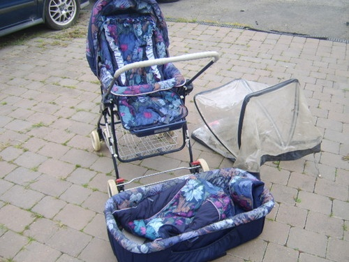SILVER CROSS JANE PRAM / PUSHCHAIR IN BLUE |