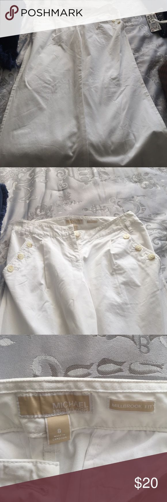 Michael Kors white beach pant Michael Kors white beach pant size 8. Super comfortable and great for spring and summer. I loved wearing them while in Florida on the beach. KORS Michael Kors Pants Boot Cut & Flare
