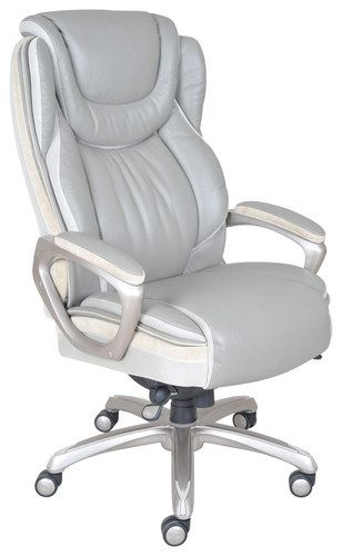 Serta - Smart Layers Leather Executive Chair - Gray
