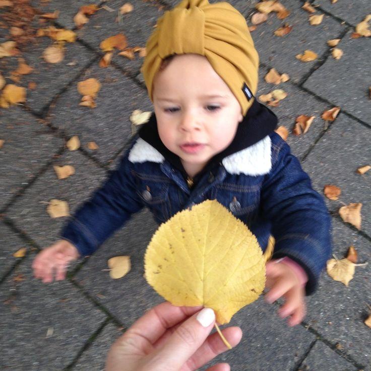 Baby herfst oker tulband