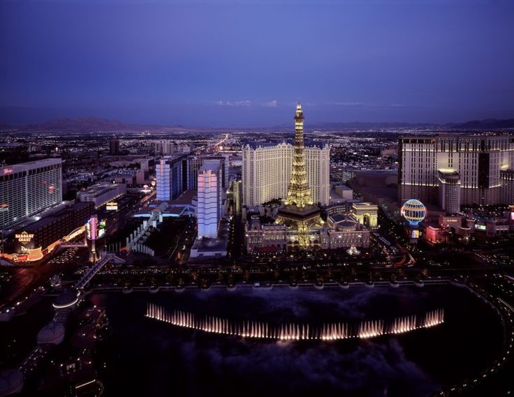 An aerial view of Las Vegas is a great thing to do in Las Vegas for couples.